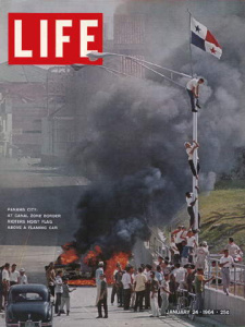 Life Magazine cover with photo from Panama riots